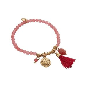 biba armband sea shell roze