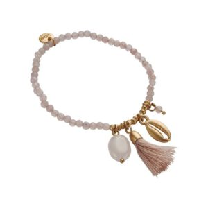 armband biba shell lichtroze