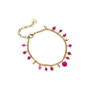 biba armband pretty pink gold
