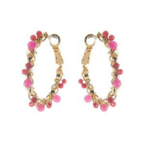 biba oorbellen pretty pink gold