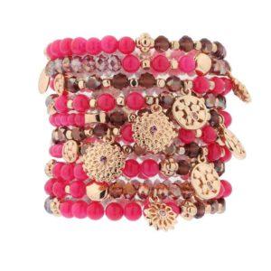 biba armbandenset pink power